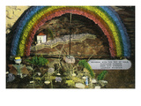 Lookout Mountain, Tennessee - Fairyland Caverns, Interior View of Rainbow with a Pot of Gold Prints by  Lantern Press