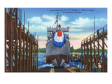 Savannah, Georgia - Launching Scene of the Uss Symbol Minesweeper Prints by Lantern Press 