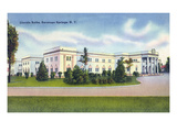 Saratoga Springs, New York - Lincoln Baths Exterior View Print by  Lantern Press