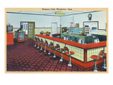 Wendover, Utah - Western Cafe Interior View Posters by  Lantern Press