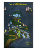 Lookout Mountain, Tennessee - Fairyland Caverns, Interior View of Snow White and 7 Dwarves Posters by  Lantern Press