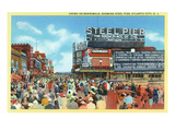 Atlantic City, New Jersey - Steel Pier View from Boardwalk Art by  Lantern Press