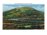 Lookout Mountain, TN - Panoramic View of Lookout Mountain, Home of Rock City Gardens Prints by  Lantern Press