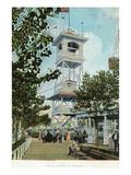 Coney Island, New York - Luna Park, View of Glady's Chime Tower Poster by  Lantern Press