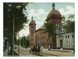 Saratoga Springs, New York - Convention Hall Exterior View Posters by  Lantern Press