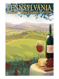 Pennsylvania Wine Country Affiches par  Lantern Press