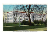 Springfield, Missouri - Southwest State Teacher's College Educational Bldg Poster by  Lantern Press