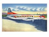 View of Western Airlines Plane in the Air Kunstdrucke von  Lantern Press