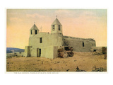 Isleta Pueblo, New Mexico - View of the Old Church Prints by  Lantern Press