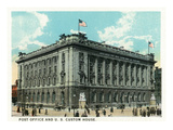 Cleveland, Ohio - Post Office and US Custom House Exterior Art by  Lantern Press