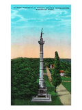 Chattanooga, Tennessee - View of the Illinois Monument at Gen. Bragg's Hq, Missionary Ridge Posters by  Lantern Press