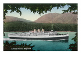 View of Canadian Pacific Railway Liner SS Princess Marguerite Poster by  Lantern Press