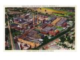 Rochester, New York - Aerial View of Kodak Park Kunstdrucke von  Lantern Press