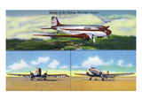 Chicago, Illinois - Aviation Scenes at Municipal Airport Prints by Lantern Press