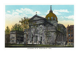 Philadelphia, Pennsylvania - St. Peter and St. Paul Cathedral Exterior Prints by Lantern Press