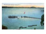 Saratoga Springs, New York - View of Saratoga Lake Kunstdrucke von  Lantern Press