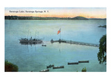 Saratoga Springs, New York - View of Saratoga Lake Art by Lantern Press