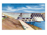 Tennessee - Sketch of Boone Dam in Eastern Tennessee Near Bluff City Art by Lantern Press