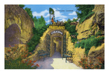 Lookout Mountain, Tennessee - View of Fairyland Caverns Entrance Prints by Lantern Press
