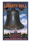 Independence Hall and Liberty Bell - Philadelphia, Pennsylvania Posters by Lantern Press