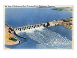 Chattanooga, Tennessee - Aerial View of the Chickamauga Dam Posters by  Lantern Press