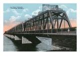 Montreal, Quebec - Victoria Bridge Scene Posters by  Lantern Press