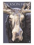 Jackson Hole, Wyoming - Moose Up Close Prints by  Lantern Press