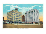 Springfield, Missouri - Heer's and Lander's Buildings Posters by  Lantern Press