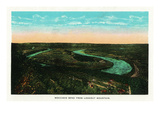 Chattanooga, Tennessee - Scenic Aerial View of Moccasin Bend from Lookout Mountain Poster by Lantern Press