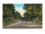 Baltimore, Maryland - National Road Towards Frederick Print by  Lantern Press