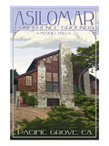 Pacific Grove, California - Asilomar Conference Grounds - Merrill Hall Prints by  Lantern Press