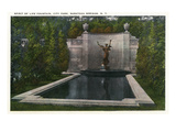 Saratoga Springs, New York - City Park, Spirit of Life Fountain View Prints by Lantern Press