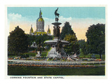 Hartford, Connecticut - Bushnell Park Corning Fountain Print by Lantern Press