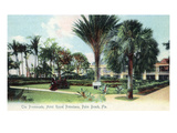 Palm Beach, Florida - Royal Poinciana Hotel Promenade Posters by  Lantern Press