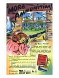 More Ammunition Storiette, Woman in Cabin Shooting Gun Prints by  Lantern Press