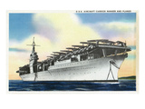 View of Uss Ranger Aircraft Carrier and Planes Prints by  Lantern Press