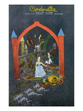 Lookout Mountain, Tennessee - Fairyland Caverns, Interior View of Cinderella Running from Prince Prints by  Lantern Press