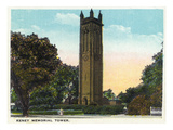 Hartford, Connecticut - Keney Memorial Tower Exterior Poster by  Lantern Press