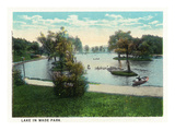 Cleveland, Ohio - Wade Park Lake Scene Prints by  Lantern Press