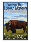 Buffalo Bills Lookout Mountain, Colorado - Bison Scene Prints by  Lantern Press