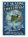 Curry Village Ice Skater - Yosemite National Park, California Art by Lantern Press