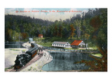 Kentucky - Train Station at Natural Bridge in the Mountains Art by  Lantern Press