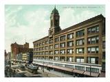 Rochester, New York - Eastern View of Main Street Prints by  Lantern Press