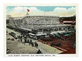 Old Orchard Beach, Maine - Jack Rabbit Rollercoaster Kunstdrucke von  Lantern Press