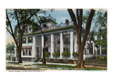 Saratoga Springs, New York - Hotel Russell Exterior View Poster by  Lantern Press