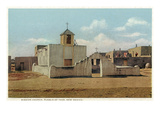 Taos Pueblo, New Mexico - View of the Mission Church Posters by  Lantern Press