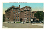 Rochester, Minnesota - Exterior View of Colonial Hospital Prints by  Lantern Press