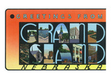Grand Island, Nebraska - Large Letter Scenes Posters by  Lantern Press