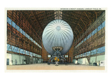 Langley Field, Virginia - Airship Hangar Interior View Print by  Lantern Press