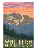 Whitefish, Montana - Spring Flowers Posters by  Lantern Press